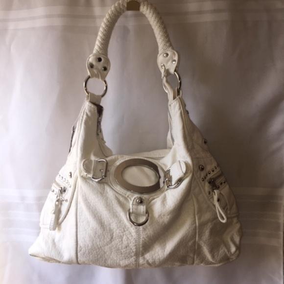 Black Rivet Handbags - Black Rivet White Shoulder Bag NWT